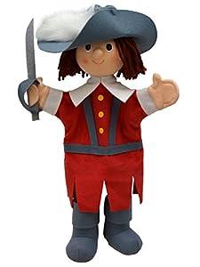 MU mubrno 26676a de Mosquetero Rojo 34cm, marioneta de Mano