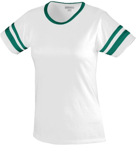 Augusta - T-shirt de sport - Femme Multicolore - White/Dark Green