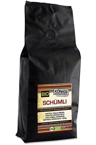 KÖNIGs Genussoffensive Fairtrade Kaffee, Schümli Kaffee gemahlen, 70% Momia/Hausmischung - 30% Espresso (Kamerun), 500g - Bremer Gewürzhandel