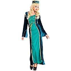 lancoszp Vestido Victoriano Retro de Mujer Disfraz de Princesa Arabe Talla Unica Verde