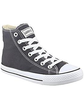 Elara Unisex Kult Sneaker | Bequeme Sportschuhe für Damen und Herren | High Top Textil Schuhe|Chunkyrayan