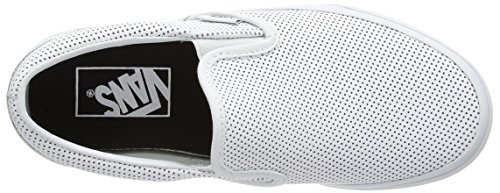 Vans Unisex-Erwachsene Classic Slip-On Sneaker Weiß (perf Leather/white)