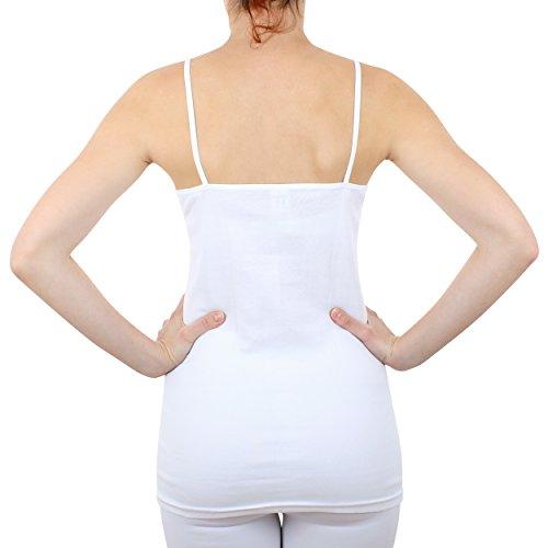 2er Pack Damen Hemd mit Spitze Feinripp aus 100% Baumwolle (Unterhemd, Oberteil) Nr. 328/0210 ( Weiß / XXXL - (56/58) ) - 3