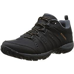 Columbia Waterproof Woodburn Ii, Chaussures de Randonnée homme,Noir(Noir (Black, Caramel) 44 EU