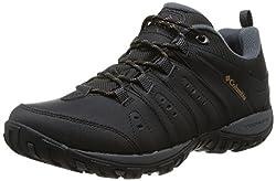 Columbia Herren Woodburn II Waterproof wasserdichte Schuhe, Schwarz (black, caramel), 47 EU
