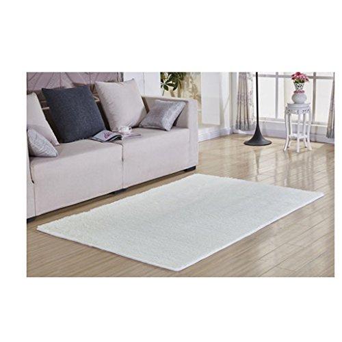 GBBD GYD Silky Teppich Wohnzimmer Couchtisch Schlafzimmer Bettvorleger Rutsch Teppich ( farbe : Nicht-gerade weiss )