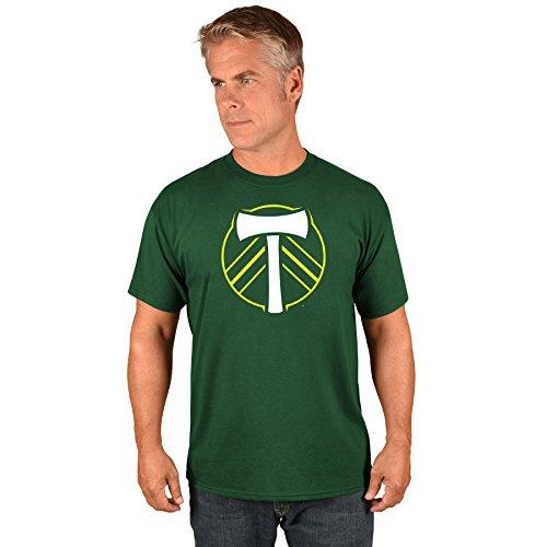 Majestic Athletic Portland Timbers MLS Herren Team Logo T-Shirt, Mädchen Unisex Jungen Damen Herren, Dunkelgrün, XX-Large - Team Athletic-t-shirt