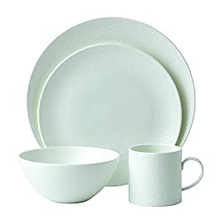 Wedgwood Gio 4 Piece Place Setting, White