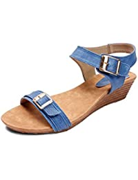 Meriggiare Women Synthetic Blue Wedges