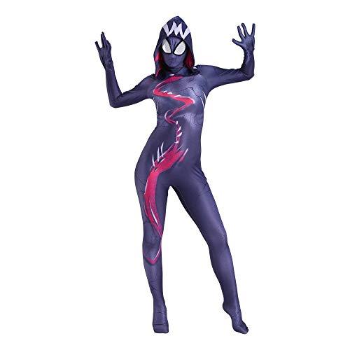YXIAOL Gwen Spiderman, Superheld Kostüm, Halloween Karneval Party Kostüm, Anime Cosplay Kostüm, 3D Lycra Strumpfhose - Erwachsene/Kinder,Adult-L (Anime Supergirl Kostüm)