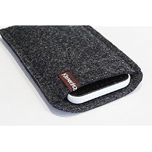 Handytasche -Handyhülle- Huawei P10 Plus -aus hochwertigem Wollfilz- Schutz vor Kratzern & Schmutz