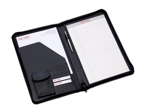 Dacasso scuola, ufficio, Sala Riunioni Meeting Table Top Accessori Nero Deluxe zip-around Padfolio-Legal Size by Dacasso - Deluxe Padfolio
