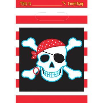 PARTY DISCOUNT Geschenktüte für Mitgebsel Piraten Schätze, 8 Stk.
