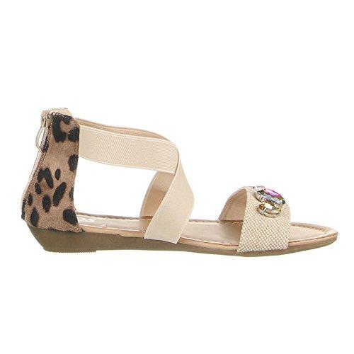 Damen Schuhe, 1078-PL, SANDALEN Beige