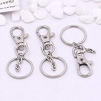 10 kleine abnehmbare Drehverschlüsse für Schlüsselringe - Karabinerhaken Schlüsselanhänger - Kosmetik & Schmuck