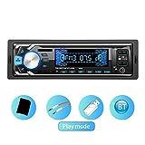 ASHATA MP3-Auto-Spieler, 12V Universalauto Bluetooth MP3 Handfree Doppel-USB-Auto-Spieler Eingebautes Bluetooth + 2 schnelles Aufladen USB + Mikrofon stützen TF-Karte