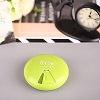 MinXiao Kleine Runde Pillendose für 7 Tage, rund, drehbarer Deckel, Tragbare Medizin grün preisvergleich bei billige-tabletten.eu