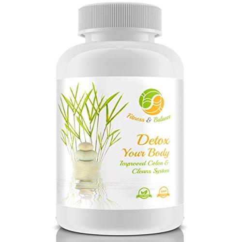 TURBO DETOX KUR (60 vegane Tabletten für 20-30 Tage) | Hochdosiert! | Colon Cleanse & Metabolic Cycle Diet | Entschlackung + Darmreinigung + Entgiftung + Fatburner, Probiotika | fördert Abnehmen