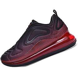 SINOES Mujer 720 Caña Baja Gimnasia Ligero Transpirable Casuales Sneakers de Exterior y Interior Zapatillas Deporte Zapatillas de Carretera Negro Rojo 39 EU