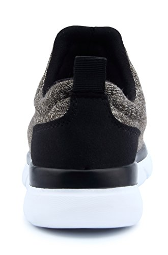 Santiro Femmes Chaussures de Course Sports Fitness Gym athlétique Baskets. Kaki