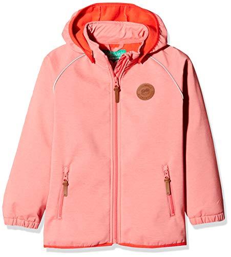 Fred's World by Green Cotton Mädchen Softshell Jacket Girl Jacke,per Pack Orange (Dark Coral 017174401),116 (Herstellergröße:116) Green Cotton Jacke