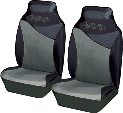 ford-ranger-aquasport-car-front-seat-covers-pair-waterproof-tear-resistant-fabric-in-black-grey