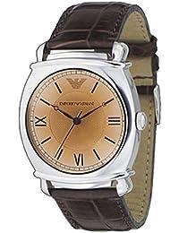 adabd146af6f Armani correa de reloj AR-0264 Piel de cocodrilo Marrón 24mm(Sólo reloj  correa
