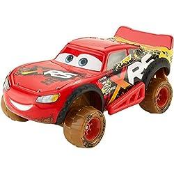 Disney Pixar Cars petite voiture XRS Course dans la boue, Flash McQueen, véhicule avec suspension, jouet pour enfant, GBJ36