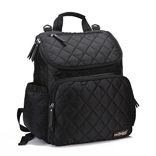 Preisvergleich Produktbild Bonamana Windel-Beutel Rucksack Multifunktions-Reise-Rucksack-Windel-Beutel für Baby-Sorgfalt, große Kapazität (Schwarz) (Schwarz)