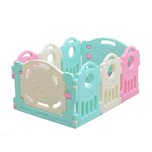 Baby Playpen HUYP Children's Foldable Panel Pet Fence Baby Fence Play Toddler Crawling Mat Fence (Size : 6 small pieces)  HUYP