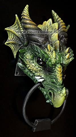 Heurtoir dragon vert