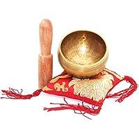 Wishing 8 cm Bol Chantant Tibétain Génial pour la méditation, la relaxation, le stress et le soulagement de l'anxiété, guérison des chakras, yoga