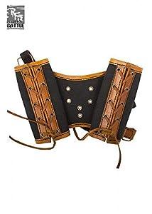 Epic Armoury 121502 RFB Arnés de doble espada - Marrón/Negro soporte de armas, Unisex Adulto