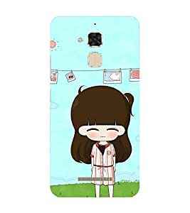 PrintVisa Designer Back Case Cover for Asus Zenfone 3 Max ZC520TL (5.2 Inches) (Crazy girl design :: Funny girl design :: Puppy girl design :: Chubby girl design :: Smiley girl design)