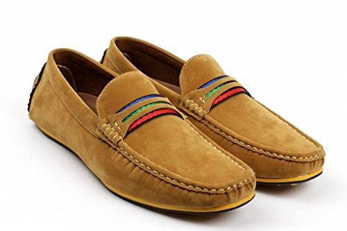 hommes de Conduite à enfiler chaussures décontractées bateau mocassins italien mocassin Chameau
