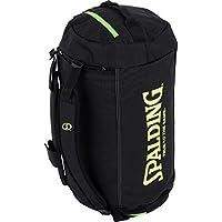 Spalding Duffle Bag Bolsa con Función de Mochila, Negro/Verde (Flash), Talla Única
