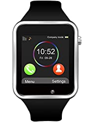 Bluetooth Smartwatch, Jukkarri Armbanduhr mit Sim Card Slot GSM Sport Watch Activity Tracker Armbanduhr für Android / IOS Smartphones