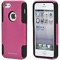 Monoprice doble capa + carcasa de silicona para iPhone 5 - rosa
