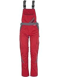 Planam Damen Latzhose Highline, größe 46, rot / schiefer / schwarz / mehrfarbig, 2392046