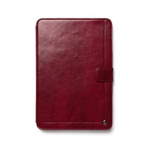 Zenus Neo Classic Diary - luxuriöse Klapptasche aus Kunstleder und Smarter On/Off Funktion für Apple iPad mini 2 (Retina) & mini 3 - wein rot