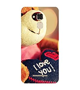 Takkloo I love you love you, lovely quoteromantic quoteteddy bearcute case) Printed Designer Back Case Cover for Asus Zenfone 3 Max ZC520TL (5.2 Inches)