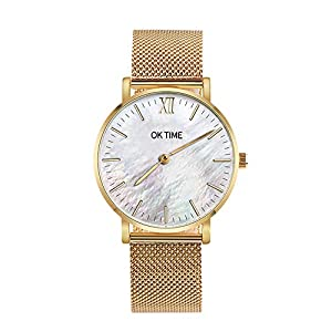 Sports Watches, Stainless Steel Ultra Thin Men's Women Watches Luxury Casual Quartz Watch