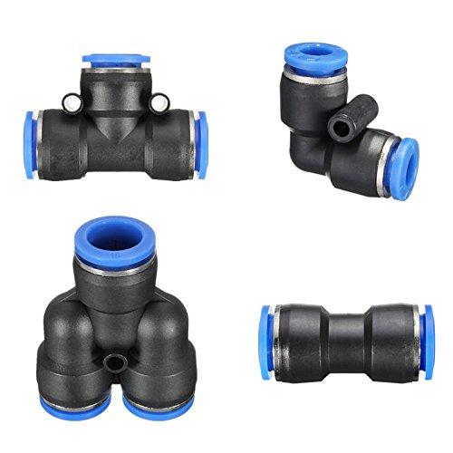 r Schub in Armaturen für Luft WasserSchlauch Leitungen Rohr Stecker - Y - 4mm ()
