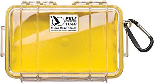 Peli 1040 mit Innen - Gelb, Außen - Klar (Farbige Kunststoff-taschen)