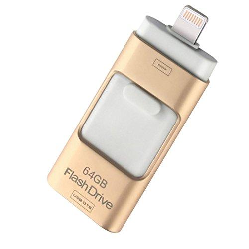 USB-Flash-Laufwerk Datenlaufwerk Blitz Externer Speicher Speicher 16GB / 32GB für Desktop PC / iOS / iPhone / ipad / Android , gold , (Billig Halskette Hello Kitty)