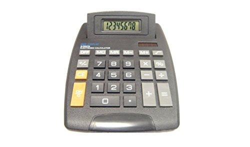 Preisvergleich Produktbild Deet® Tisch-Rechner Solar- und Batteriebetrieb 8 Zahlen auf Display anzeigbar. Ideal für den Arbeitstisch z Hause, Schule, Mathematik, Buchhaltung, Finanzwesen usw. Nicht wissenschaftlich und einfach zu verwenden - **Batterien im Lieferumfang enthalten**