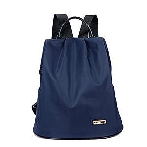 41mZHZ32ICL. SS300  - Eshow Bolsa Mochila Escolar Casual Oxford Impermeable Azul