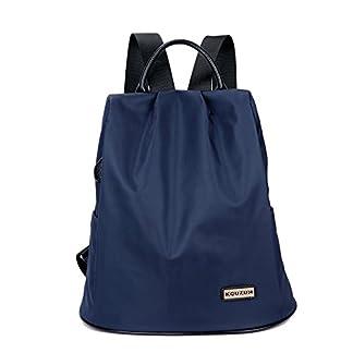 Eshow Bolsa Mochila Escolar Casual Oxford Impermeable Azul