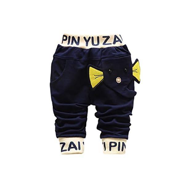 Squarex - Pantalones de 3 a 24 Meses, para bebé, niños, con diseño de Letras, Ropa Informal, Moda otoñal, Invierno, Ropa… 1