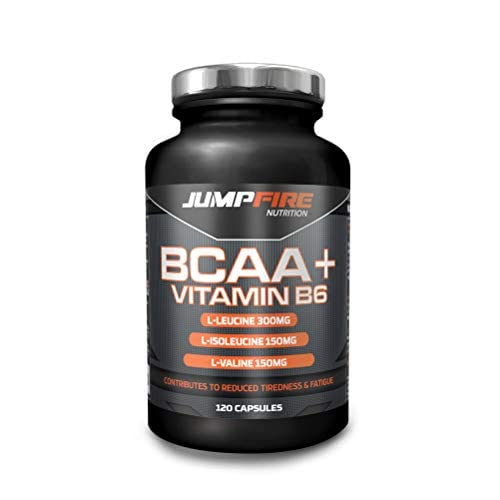 41mZIK19K4L. SS500  - Jumpfire Nutrition BCAA Tablets + Vitamin B6, Amino Acid, Men & Women, Intra-Workout, Pre Workout, Leucine Isoleucine Valine, 2:1:1 Optimum Nutrition Ratio